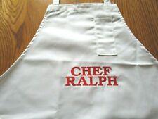 "Personalized ""Chef Ralph"" White Full Apron-Unused"