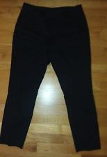 DKNY LINEN WOOL BLEND PANTS SIZE 10 BLACK SIDE ZIP
