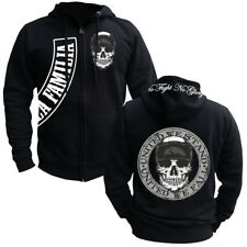 Kapuzensweat Jacke Hooded Zip La Familia UNITED WE STAND Criminal Front Hardcore