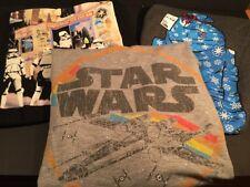 Star Wars T Shirt Sweatshirt Lot Storm Troopers R2D2 Millenium Falcon Size M L