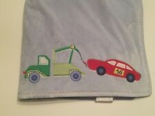 Pottery Barn Kids Blanket • TOW TRUCK • Car • Blue Plush • HTF • PBK • 2005