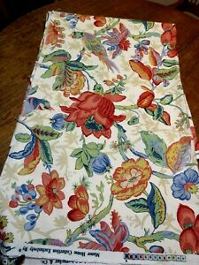 """""""Abingdon""""  Country Manor Col. Screen Print GREEFF 2 Yds x 60"""" Upholstery Fabric"""