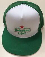 Heineken Light Mesh Trucker SnapBack Hat Pre Owned Dutch Brewing Lager Beer Cap