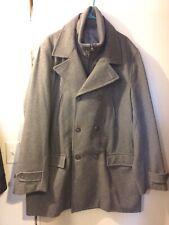 Coat Mens Dress Formal Wool XXL 2X Gray New