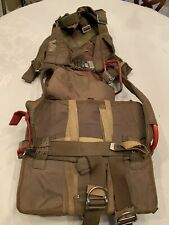 Parachute French Army Issue Full Chute Packed Complete With Harness Tri Color