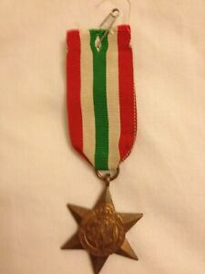 George VI 1939-1945 The Italy Star Medal With Ribbon