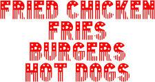 American Wording 1, Burger Van Stickers Catering Trailer, Diner / Takeaway Decal
