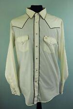 VTG Bar-B Long Tails Permanent Press Western Cowboy Pearl Snap Fastener Shirt XL