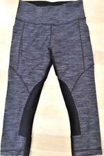 LULULEMON POLOCROSSE CROP PANTS Wee Are From Space Cashew Black size 4 EUC Yoga