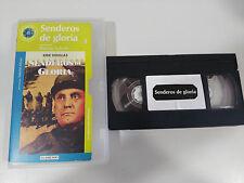SENDEROS DE GLORIA VHS TAPE CINTA COLECCIONISTA KIRK DOUGLAS STANLEY KUBRICK