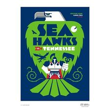 Seattle Seahawks Gameday Poster vs Tennessee Titans Sep 19 2021 by Matt Naylor
