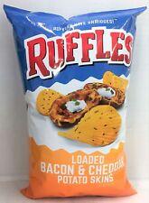 Ruffles Loaded Bacon & Cheddar Potato Skins Flavored Ridged Potato Chips 8.5 oz