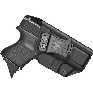 Amberide IWB KYDEX Holster Fit: Glock 26 Gen3-5 & Glock 27/33 Gen3-4 Pistol