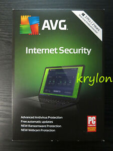 AVG Internet Security 2019 3 PCs 2 Year Physical Version Retail Box