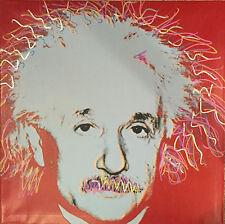 Albert EINSTEIN Red  by Steve Kaufman SAK  UNIQUE ORIGINAL Painting 36x36