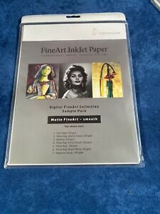 """14 Sheets Hahnemuhle Matte Fine Art Smooth Archival Inkjet 8.5x11"""" Free Shipping"""