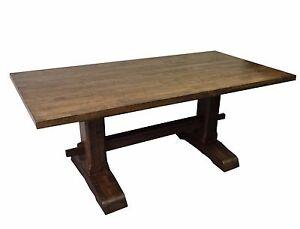 Trestle Farmhouse Table (Rustic Harvest Farmhouse Kitchen Dinning Table)