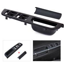 Black Door Window Switch Bezel + Handle Trim Set For VW Jetta Golf MK4 Passat B5