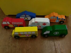 """Melissa & Doug """"Nesting And Sorting"""" numbered Wooden  Vehicles T901"""
