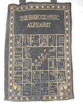 "THE HIEROGLYPHIC ALPHABET Black & Gold 12x17.5"" Fabric Tote Bag"