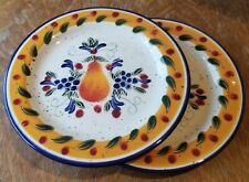Julie Ueland Lunch Salad Plate Multi-colored Pear ~ Harry & David 2001