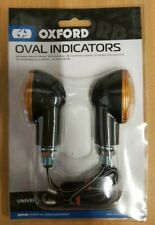 Oxford Motorcycle Motorbike Oval Indicators Uses 12V X 23W Amber Bulbs OF551 T