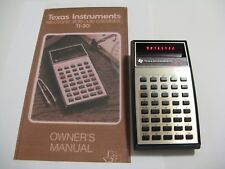 TI-30 Calculator Red LED Display. With Manual TESTED WORKS Electronic Slide Rule