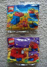 LEGO Basic Animals - Rare Promo 2163 Toucan & 2165 Rhinocerous - New & Sealed