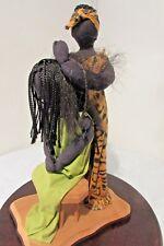 African Statue Art Decor Sculptures Black Hair Braiding Waves Crochet Deadlocks