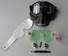 Scott 83X Vollcross Brille mit Mundschutz incl. RNR Roll Off und Vollmaske