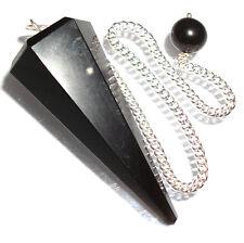 Black Obsidian Point Dowsing Pendulum Crystal Removes Negative Energies
