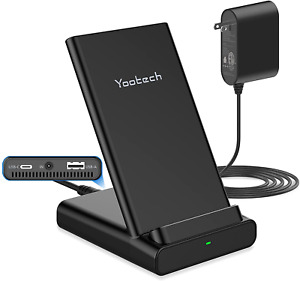 Yootech Wireless Charging Station with 20W USB C Port & 5W USB A Port 3 in 1
