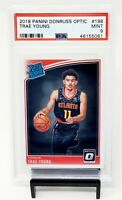 2018 Donruss Optic RC Hawks Star TRAE YOUNG Rookie Basketball Card PSA 9 MINT !!