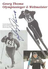 Autogramm AK Georg Thoma Olympiasieger 1960 Skisprung Skispringen Weltmeister we
