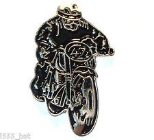 Classic 1960's British Motorbike Ton Up Boy Metal Cafe Racer TT Bike Pin Badge