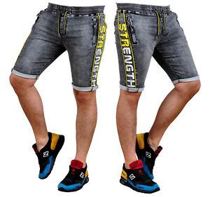 Kurzhose Shorts Kurze Bermuda Jeans Denim Freizeit Hosen Herren KR766 Color Mix