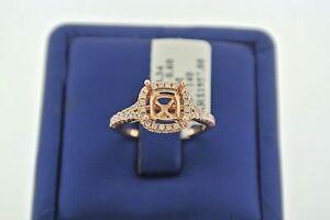 14k Rose Gold 0.60 CT Diamond Engagement Setting Fits 7mm Diamond