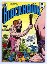 BLACKHAWK British Edition #34 G, Big 68 Pgs, Isle of Giants, UK, DC Comics 1956