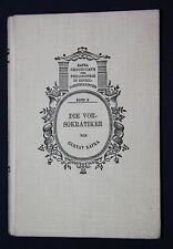 Gustav Kafka: Die Vorsokratiker. 1921.