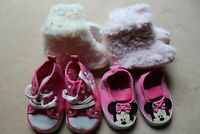 Baby Girls Shoes Bundle Age 3-6 Months Disney  Boots Slippers