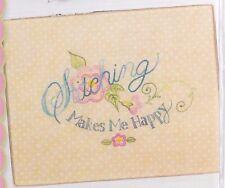 PATTERN - Stitching Makes Me Happy - stitchery PATTERN - Crabapple Hill