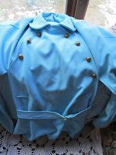 VTG 1960s WOMENS CAPE AQUA BLUE PONCHO Peter Pan Collar RETRO MOD Jacket Coat