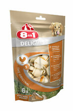 8 In 1 Delights Gluten Free Rawhide Dog Treats, Small Chicken Bones, 6 Pack