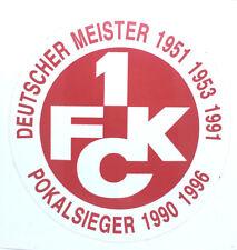 1. FC Kaiserslautern Aufkleber  Stuco Sticker Logo Bundesliga Fussball #435