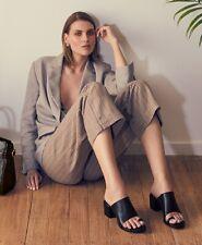 Mi Piaci Black Leather Dress Sandal Heels Shoes - Fleek - Sz 38