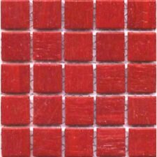 "75 3/4"" Chili Red Vitreous Glass Mosaic Tiles Vd41"