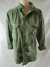 NSF Paint Splattered Distressed Jacket Size Small