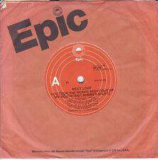 MEAT LOAF You Took The Words Right Out Of My Mouth / For Crying Out Loud 45