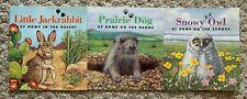 3 Smithsonian Learn About Animals Books ~ Jack Rabbit ~ Prairie Dog ~ Snowy Owl