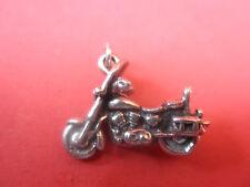 Harley Davidson Motorcyc Rare Vintage 3-D Solid Cast Sterling Ultra Fine Detail